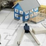 Home building - Blueprint of home with drawing tools